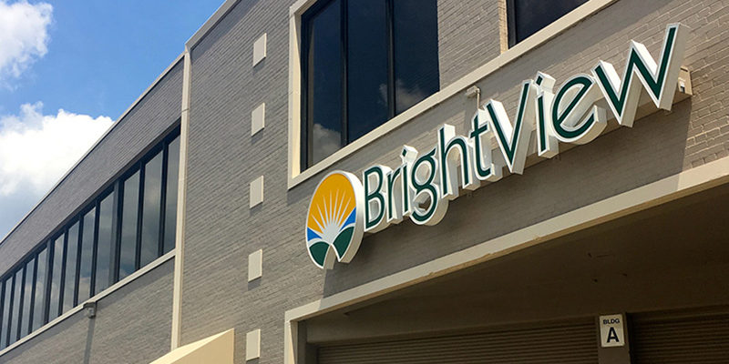 BrightView sign on building