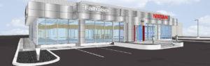 3D rendering of Nissan Falhaber building