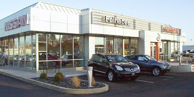 Nissan Falhaber building with cars in front