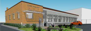 3D rendering of Rotex Global building