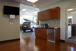 Kitchen and Waiting room at Subaru