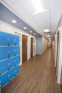 BrightView, Morgan Street Hallway with lockers