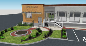 3D rendering of outside of Rotex Global, LLC
