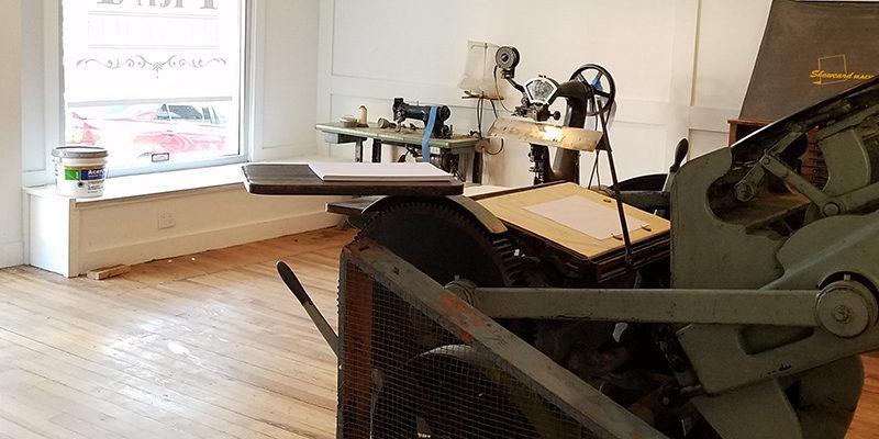 Printing press at BLOC